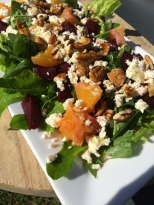 Rocket, feta and beetroot salad resized