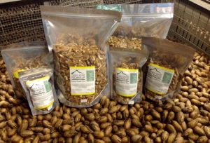 Pecans freshly packaged